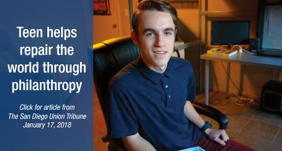 Teen helps repair the world through philanthropy